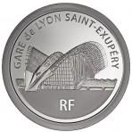 Piece Argent 20 Euros Gare de Lyon Saint-Exupery – Trains de France 2012