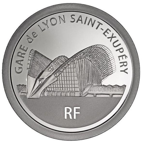 Avers Piece 20 Euros Argent - Gare de Lyon saint Exupery 2012