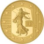 Pièce Or 50 Euro Semeuse 2012