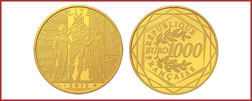 Pièce 1000 Euros Or de la Monnaie de Paris