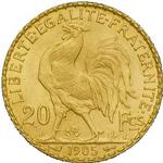 La Monnaie Métallique Frappée : 20 francs Or