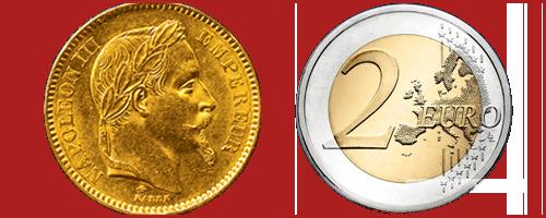 La valeur intrinsèque d'une pièce de monnaie