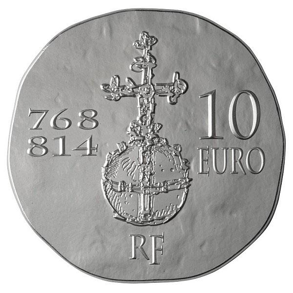 Revers de la Pièce CHarlemagne de la Monnaie de Paris