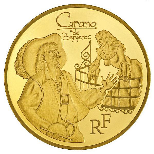Cyrano sur la Pièce Or 50 Euros de la Monnaie de Paris