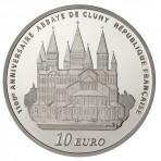 Pièce Argent 10 Euros Abbaye de Cluny – Série Europa 2010