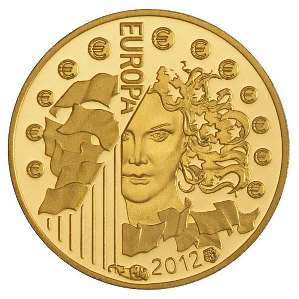 Pièce or Europa 2012 - Monnaie de Paris