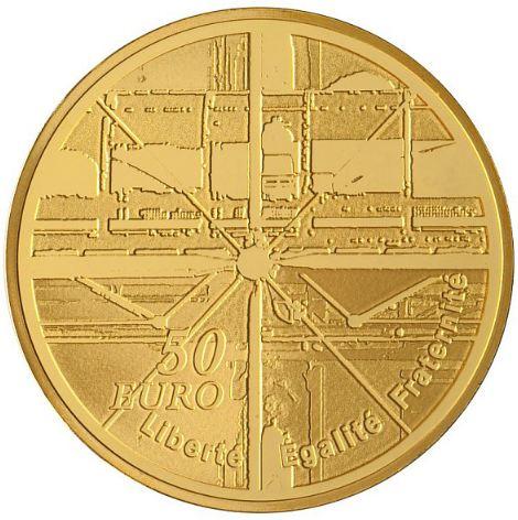 Pièce de la Monnaie de paris Centre Georges Pompidou 50€