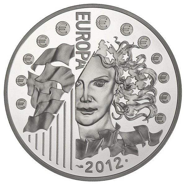 Avers de la Pièce de 10 Euros Argent : Europa