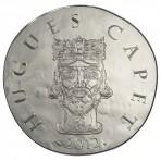 Pièce 10 Euros Argent Hugues Capet 2012