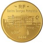 Pièce 50 Euros Or Centre Georges Pompidou