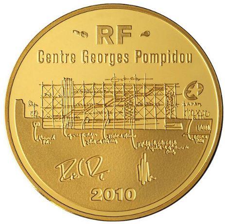 Pièce Or 50 Euros Centre Georges Pompidou