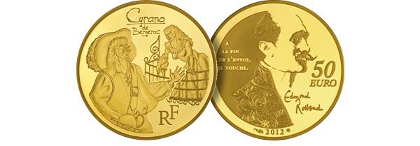 Pièces de Monnaie Cyrano or et argent de la monnaie de Paris