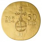 Pièce 50 Euros Or Charlemagne 2011