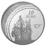 Pièce de Monnaie Argent 10 Euros – Jacques Cartier