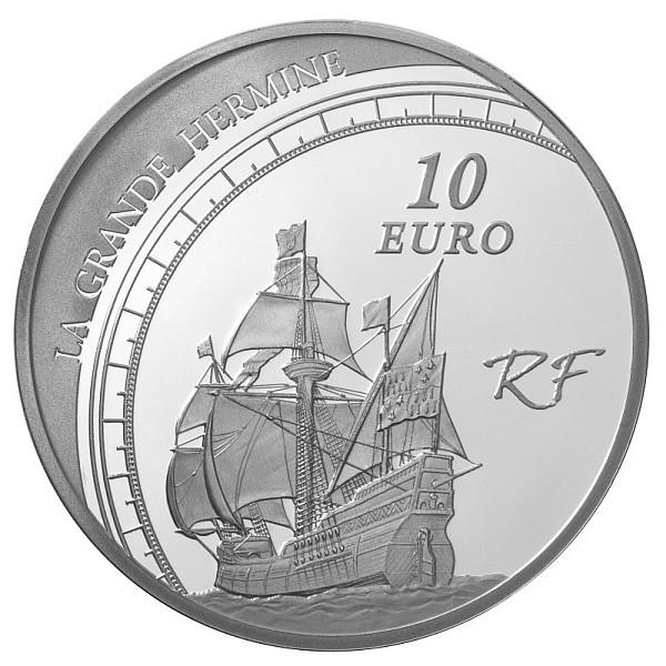 Pièce 10 Euros Argent Jacques Cartier