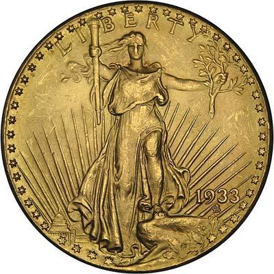 Pièce d'or 20 dollars américain