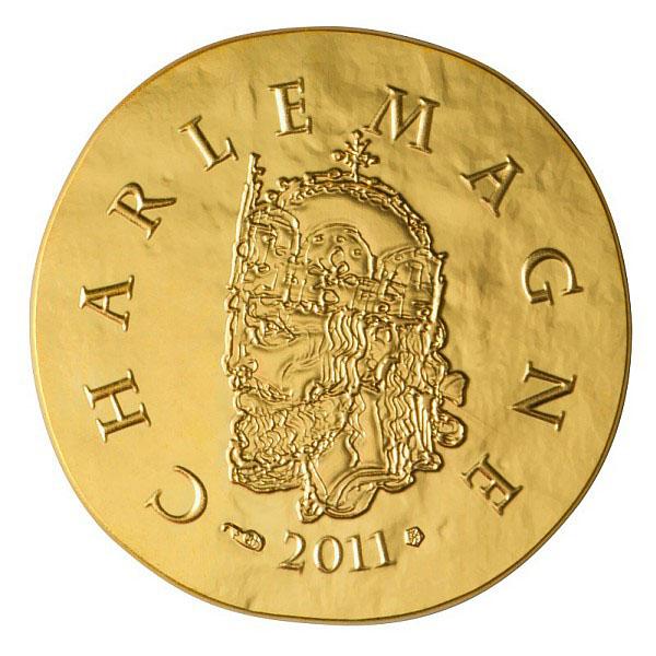 Charlemagne sur la pièce Or de la Monnaie de Paris