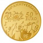 Pièce 50 Euros Or Europa 2011 – 30 ans de la fête de la musique