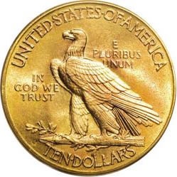 Pièces d'or de 10 dollars (Eagle)