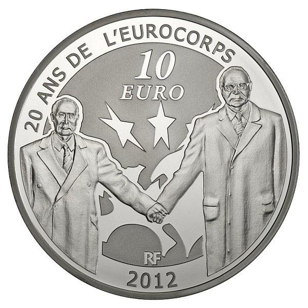 Revers de la pièce 10 Euros : Eurocorps 2012