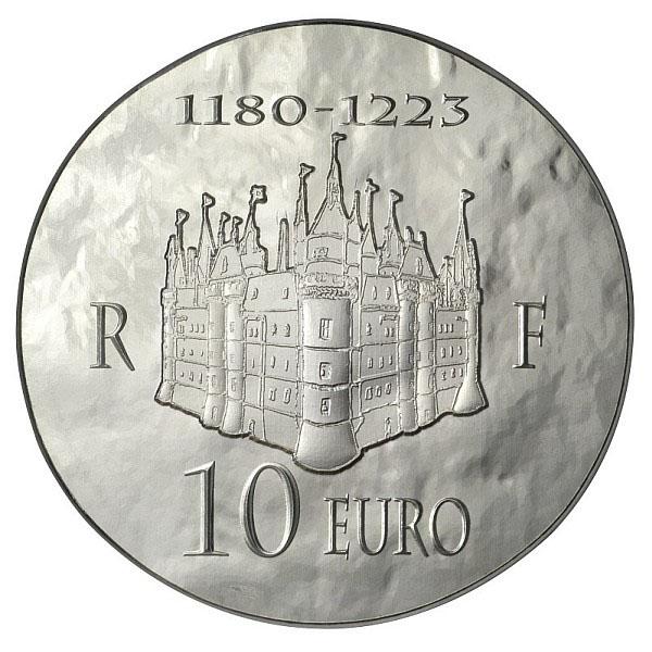 La pièce Argent 10 Euros Philippe II Auguste