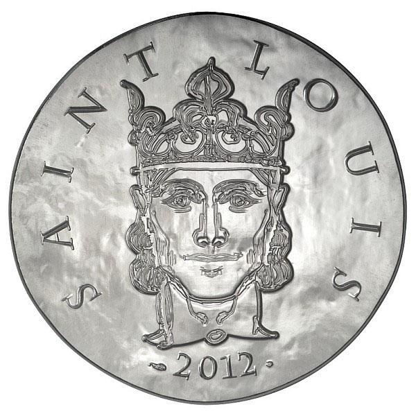 Saint Louis sur la pièce 10 Euros Argent