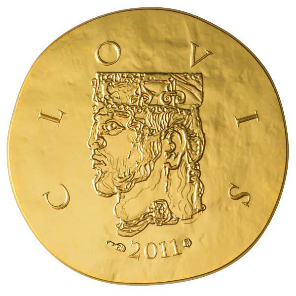 Clovis, face de la pièce 50 Euros Or