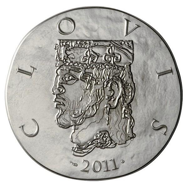 Clovis, Pièce 10 euros Argent (Face)