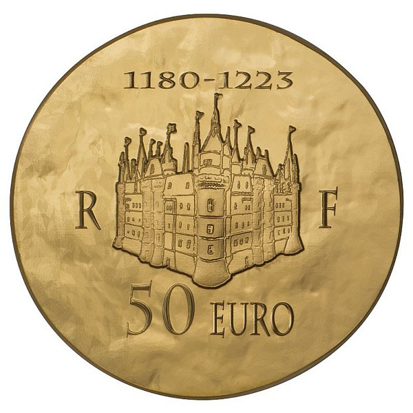 Revers de la Pièce 50€ Philippe Auguste