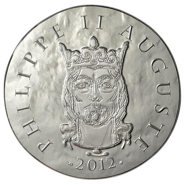 Philippe Auguste sur la pièce 10€ argent