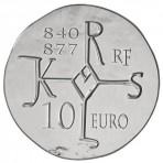 Charles II dit Le Chauve – Pièce 10 Euros Argent 2011