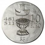 Clovis, roi des Francs – Pièce 10 Euros Argent