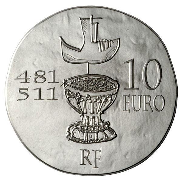 Revers de la Pièce Clovis Argent, roi des Francs