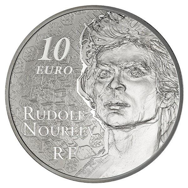 Pièce 10 euros Argent Noureev