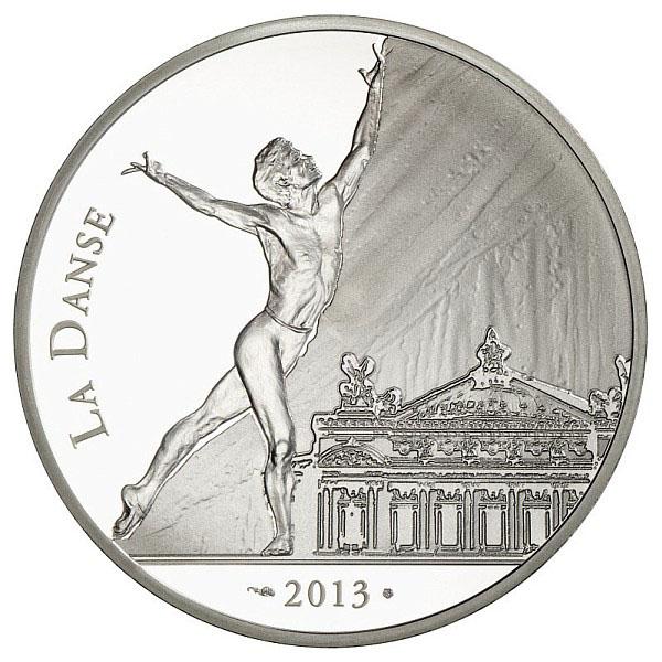 Noureev sur la piece argent de la Monnaie de Paris