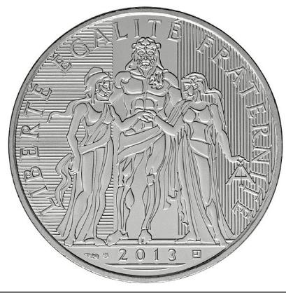 Hercule sur la pièce 10 euros argent de la Monnaie de Paris