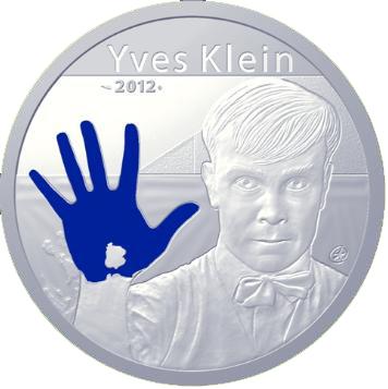 Pièce 100 euros argent Yves Klein - Monnaie de Paris