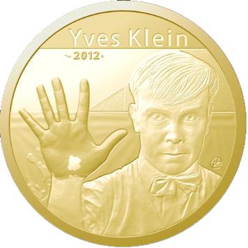 Pièce de Monnaie Yves Klein en Or